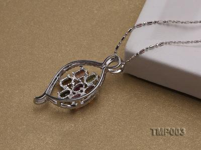 32x15mm Natural Tourmaline Pieces Pendant with Sterling Silver Pendant Bail TMP003 Image 4