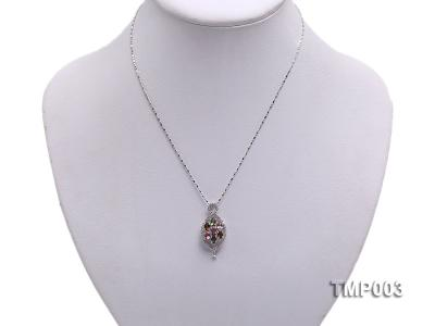 32x15mm Natural Tourmaline Pieces Pendant with Sterling Silver Pendant Bail TMP003 Image 5