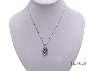 32x15mm Natural Tourmaline Pieces Pendant with Sterling Silver Pendant Bail TMP009 Image 5