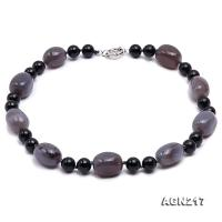 12mm Agate Necklace AGN217