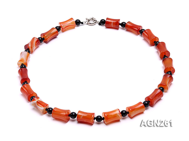 20x13mm Red Agate Necklace big Image 1