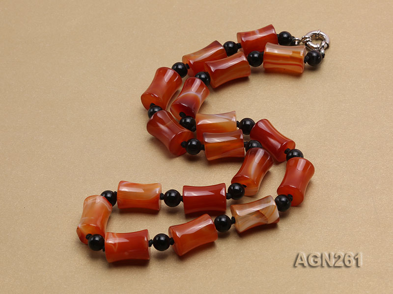 20x13mm Red Agate Necklace big Image 3