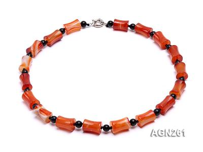 20x13mm Red Agate Necklace AGN261 Image 1