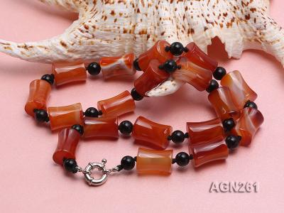 20x13mm Red Agate Necklace AGN261 Image 2