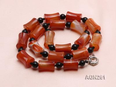 20x13mm Red Agate Necklace AGN261 Image 4