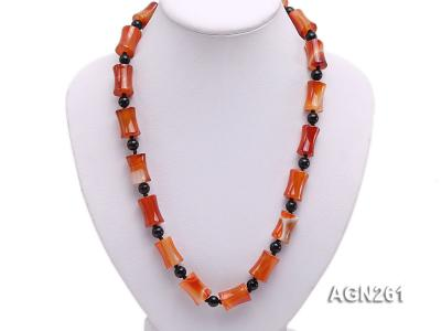 20x13mm Red Agate Necklace AGN261 Image 5