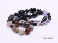 13.5-20mm Black Agate Necklace AGN264
