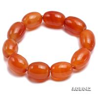 20x15mm Orange Oval Agate Bracelet AGB042