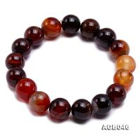 12.5mm Multi-color Round Agate Bracelet AGB046