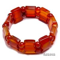 20x15mm Red Agate Bracelet AGB048