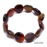 16mm Round Disc Agate Bracelet AGB050