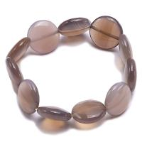 16mm Round Disc Agate Bracelet AGB051