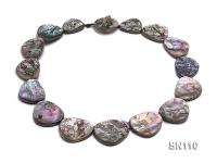 22x18-32x26mm Oval Abalone Shell Necklace SN110