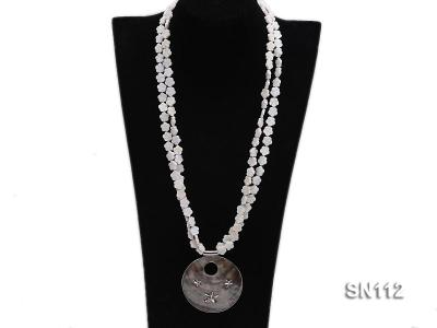 10mm White Shell Pieces Necklace SN112 Image 4