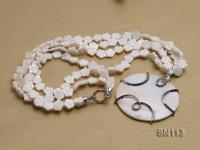 10mm White Shell Pieces Necklace SN113