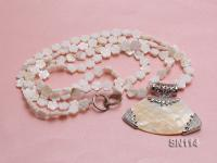 10mm White Shell Pieces Necklace SN114