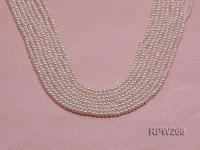 Wholesale 2.5-3mm Classic White Round Freshwater Pearl String RPW266