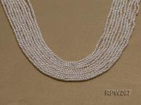 Wholesale 2mm Classic White Round Freshwater Pearl String RPW267