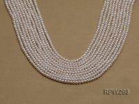 Wholesale 2.5-3mm Classic White Round Freshwater Pearl String RPW268