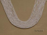 Wholesale 3mm Classic White Round Freshwater Pearl String RPW269