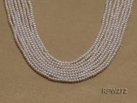Wholesale 2.8-3mm Classic White Round Freshwater Pearl String RPW272