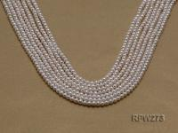 Wholesale 3-4mm Classic White Round Freshwater Pearl String RPW273