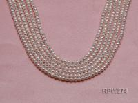 Wholesale 3-4mm Classic White Round Freshwater Pearl String RPW274