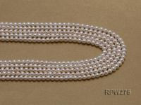 Wholesale 5mm Classic White Round Freshwater Pearl String RPW275