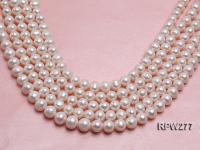Wholesale 13-16mm Classic White Round Freshwater Pearl String RPW277