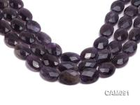 Wholesale 9x18x24mm Oval Faceted Amethyst Beads Loose string CAM091