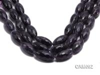 Wholesale 15x30mm Oval Faceted Amethyst Beads Loose string CAM092