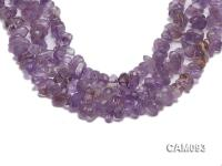 Wholesale 10x16mm Baroque Faceted Amethyst Pieces Loose string CAM093