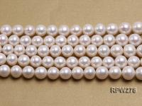 Wholesale 12-14mm Classic White Round Freshwater Pearl String RPW278