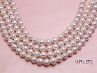 Wholesale 12-14mm Classic White Round Freshwater Pearl String RPW279