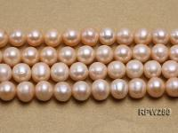 Wholesale 11-12mm Classic Pink Round Freshwater Pearl String RPW280