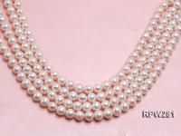 Wholesale 11-12mm Classic White Round Freshwater Pearl String RPW281