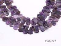Wholesale 4x16x19mm Drop-shaped Amethyst Loose string CAM097