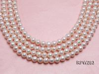 Wholesale 11-12mm Classic White Round Freshwater Pearl String RPW283