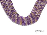 Wholesale 6x8mm Wheel-shaped Faceted Ametrine Beads Loose String CAM098