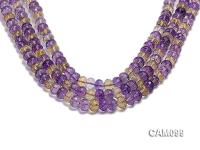 Wholesale 8x10mm Wheel-shaped Faceted Ametrine Beads Loose String CAM099
