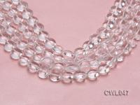 Wholesale 13.5mm Button-shaped Rock Crystal Beads Loose String CWL047
