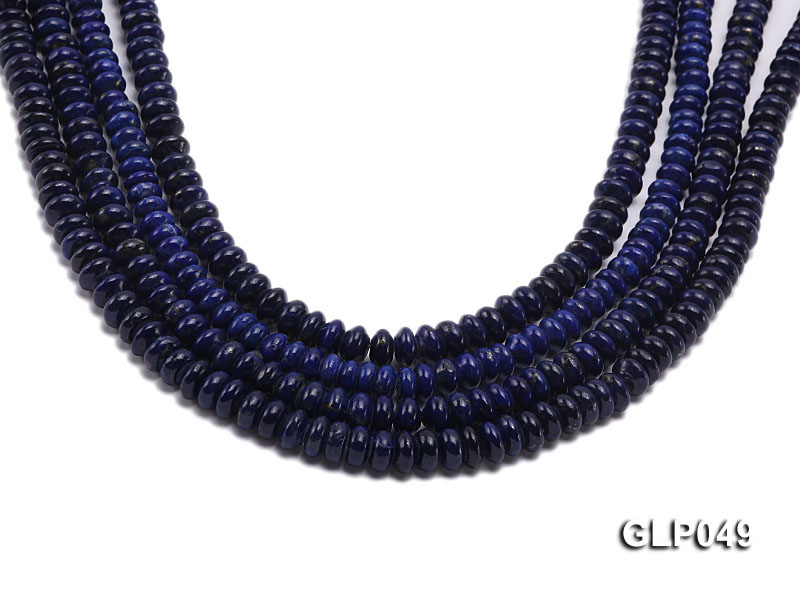 Wholesale 5x8mm Wheel-shaped Lapis Lazuli Beads Loose String big Image 1