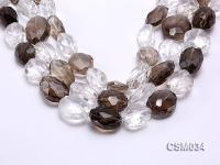 Wholesale 17x23mm Irregular Faceted Smoky Quartz Pieces Loose String CSM034