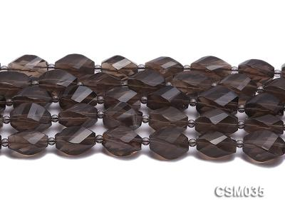Wholesale 12x20mm Irregular Faceted Smoky Quartz Pieces Loose String CSM035 Image 2