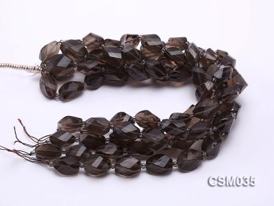 Wholesale 12x20mm Irregular Faceted Smoky Quartz Pieces Loose String CSM035 Image 3