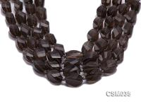 Wholesale 12x20mm Irregular Faceted Smoky Quartz Pieces Loose String CSM035