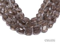 Wholesale 16x20mm Irregular Faceted Smoky Quartz Pieces Loose String CSM036