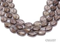 Wholesale 18x24mm Drop-shaped Faceted Smoky Quartz Beads Loose String CSM037