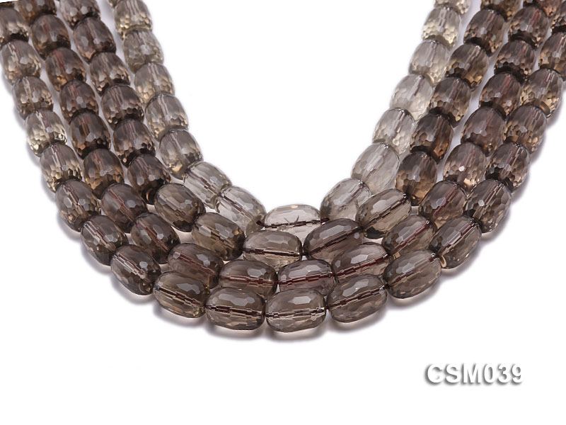 Wholesale 11x16mm Oval Faceted Smoky Quartz Beads Loose String big Image 1