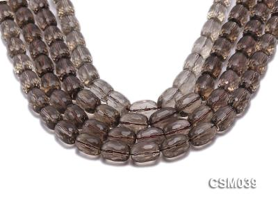 Wholesale 11x16mm Oval Faceted Smoky Quartz Beads Loose String CSM039 Image 1